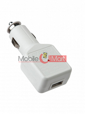 USB Car MOBILE Charger WHITE