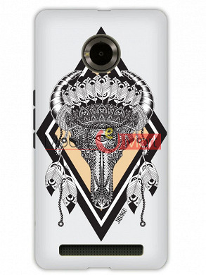 Fancy 3D Buffalo Skull Mobile Cover For Micromax Yuphoria