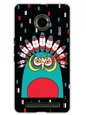 Fancy 3D African Owl Mobile Cover For Micromax Yuphoria