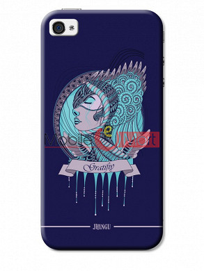 Fancy 3D Warrior Princess Mobile Cover For Apple IPhone 4 & IPhone 4s