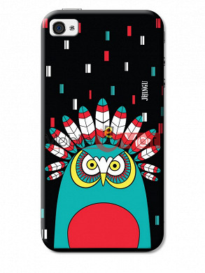 Fancy 3D African Owl Mobile Cover For Apple IPhone 4 & IPhone 4s