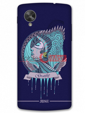 Fancy 3D Warrior Princess Mobile Cover For Google Nexus 5