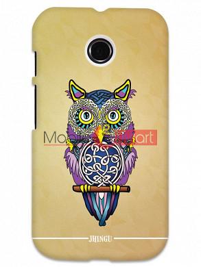 Fancy 3D Designer Owl Mobile Cover For Motorola Moto E