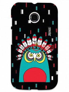 Fancy 3D African Owl Mobile Cover For Motorola Moto E