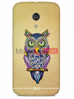 Fancy 3D Designer Owl Mobile Cover For Motorola Moto G