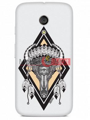 Fancy 3D Buffalo Skull Mobile Cover For Motorola Moto G