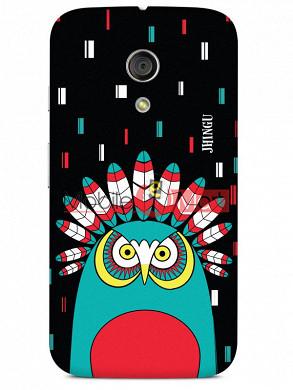 Fancy 3D African Owl Mobile Cover For Motorola Moto G