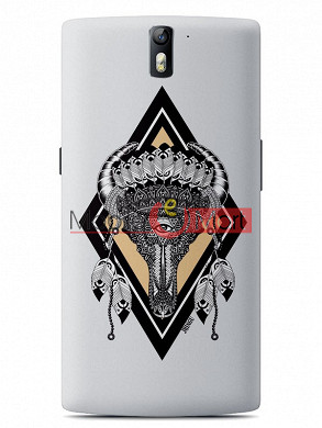 Fancy 3D Buffalo Skull Mobile Cover For One Plus One