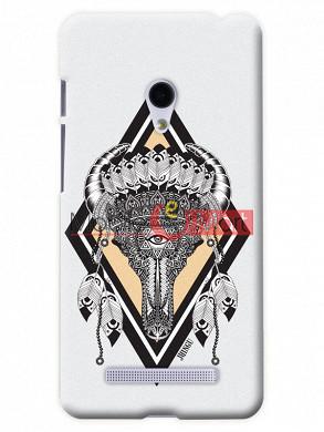 Fancy 3D Buffalo Skull Mobile Cover For Asus Zenphone 5
