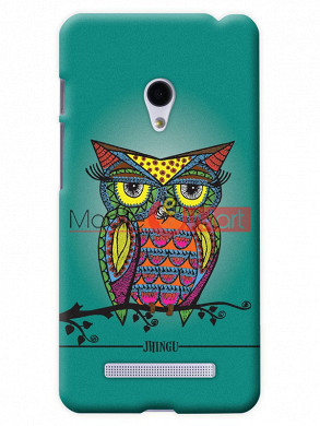 Fancy 3D Colorful Owl Mobile Cover For Asus Zenphone 6