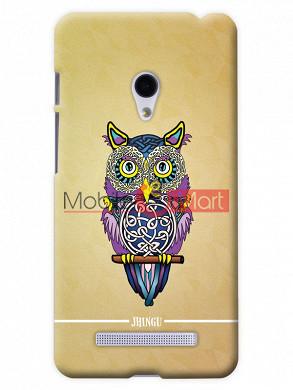 Fancy 3D Designer Owl Mobile Cover For Asus Zenphone 6