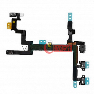 Power On Off Volume Button Key Flex Cable For iPhone 4G