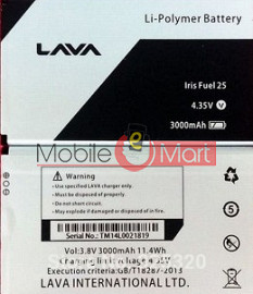 Mobile Battery For Lava Iris Fuel 25