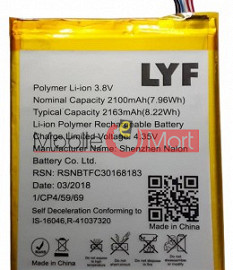 Mobile Battery For Lyf Water 7 LS-5504