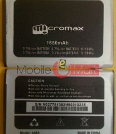 Mobile Battery For Micromax Bolt A065