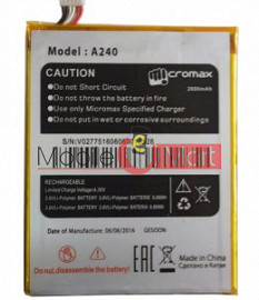 Mobile Battery For Micromax Canvas Doodle 2 A240