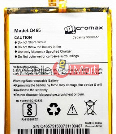 Mobile Battery For Micromax Canvas Unite 4 Pro Q465