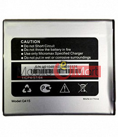 Mobile Battery For Micromax Spark Vdeo Q415