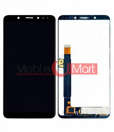 Lcd Display With Touch Screen Digitizer Panel Combo Folder Glass For Micromax Canvas Infinity HS2 (Black)