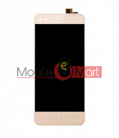 Lcd Display With Touch Screen Digitizer Panel Combo Folder Glass For Micromax Bharat 4 Q440 (Black)
