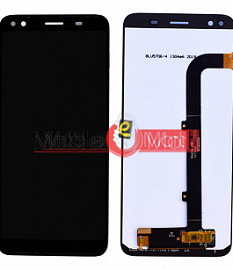 Lcd Display With Touch Screen Digitizer Panel Combo Folder Glass For Micromax Canvas 1 C1A HD+ (Black)