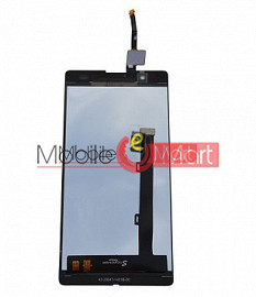 Lcd Display With Touch Screen Digitizer Panel Combo Folder Glass For Micromax YU Yunique YU4711 (Black)