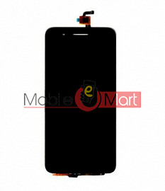 Lcd Display With Touch Screen Digitizer Panel Combo Folder Glass For Micromax Canvas Juice 4G Q461 (Black)