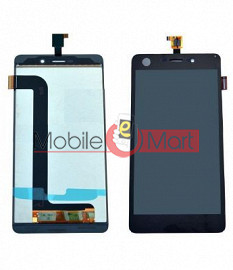 Lcd Display With Touch Screen Digitizer Panel Combo Folder Glass For Micromax Canvas Mega E353 (Black)