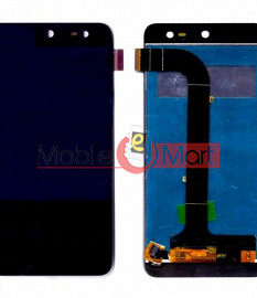 Lcd Display With Touch Screen Digitizer Panel Combo Folder Glass For Micromax Canvas Nitro 4G E455 (Black)