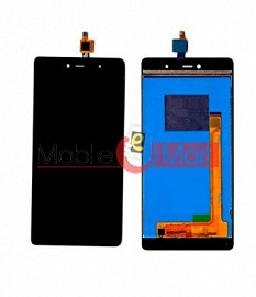 Lcd Display With Touch Screen Digitizer Panel Combo Folder Glass For Micromax Canvas 5 E481 (Black)