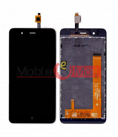 Lcd Display With Touch Screen Digitizer Panel Combo Folder Glass For Panasonic P91  (Black)