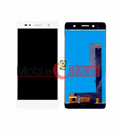 Lcd Display With Touch Screen Digitizer Panel Combo Folder Glass For  Lava Z10 (Black)