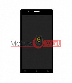 Lcd Display With Touch Screen Digitizer Panel Combo Folder Glass For Lava Iris Icon (Black)