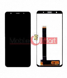Lcd Display With Touch Screen Digitizer Panel Combo Folder Glass For Lava Z81 (Black)