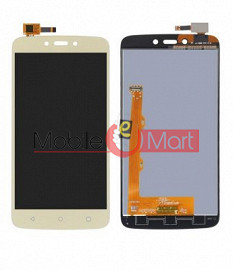Lcd Display With Touch Screen Digitizer Panel Combo Folder Glass For Motorola Moto C (black)