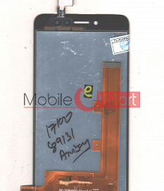 Lcd Display With Touch Screen Digitizer Panel Combo Folder Glass For Itel S41 (Black)