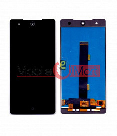 Lcd Display With Touch Screen Digitizer Panel Combo Folder Glass For Itel it1520 (Black)