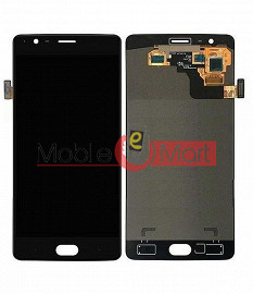 Lcd Display With Touch Screen Digitizer Panel Combo Folder Glass For OnePlus 3T (Black)