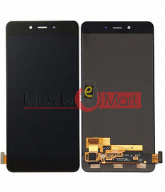 Lcd Display With Touch Screen Digitizer Panel Combo Folder Glass For OnePlus X (Black)