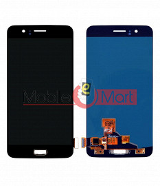 Lcd Display With Touch Screen Digitizer Panel Combo Folder Glass For OnePlus 5 (Black)