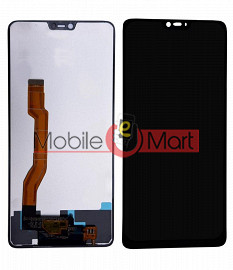 Lcd Display With Touch Screen Digitizer Panel Combo Folder Glass For Oppo F7 (Black)