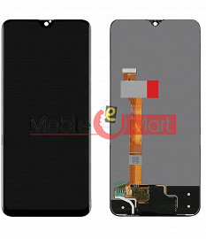 Lcd Display With Touch Screen Digitizer Panel Combo Folder Glass For Oppo F9 (Black)