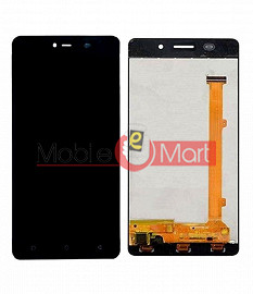 Lcd Display With Touch Screen Digitizer Panel Combo Folder Glass For Gionee Marathon M5 Lite (Black)