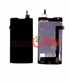 Lcd Display With Touch Screen Digitizer Panel Combo Folder Glass For Lenovo A1000 (Black)