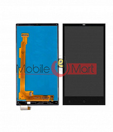 Lcd Display With Touch Screen Digitizer Panel Combo Folder Glass For Gionee Elife E7 Mini (Black)