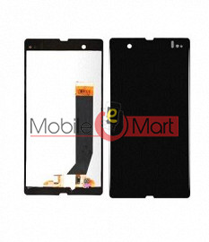 Lcd Display With Touch Screen Digitizer Panel Combo Folder Glass For Sony Xperia Z (Black)