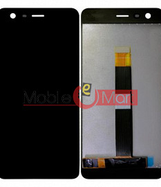 Lcd Display With Touch Screen Digitizer Panel Combo Folder Glass For Nokia 2 (Black)