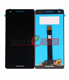 Lcd Display With Touch Screen Digitizer Panel Combo Folder Glass For Nokia 2.1 (Black)