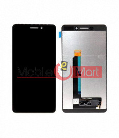 Lcd Display With Touch Screen Digitizer Panel Combo Folder Glass For Nokia 6.1 (Black)