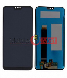 Lcd Display With Touch Screen Digitizer Panel Combo Folder Glass For Nokia 7.1 Plus (Black)